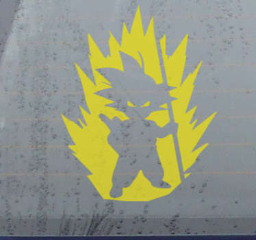 Dragon ball tv series car sticker to decoratethe window or bonnet of any vehicle. Easy to apply and available in different colours an sizes.