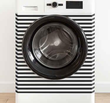Vinilo para lavadora con diseño floral precioso y con un fondo rosa. No permita que su lavadora se vea aburrida ¡Envío a domicilio!