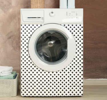 Vinilo para lavadora con diseño de lunares en los que puedes elegir el color para decorar tu lavadora de forma única ¡Fácil de aplicar!