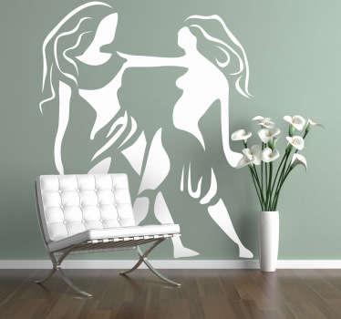 Sticker decorativo oroscopo Gemelli