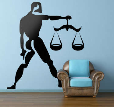 Wall Stickers - Libra zodiac sign. Ideal for those born during the period of September 23rd - October 22nd.