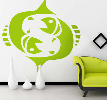 Wall Stickers - Pisces zodiac sign. Ideal for those born during the period of February 19th - March 20th.