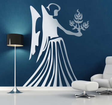 Wall Stickers - Virgo zodiac sign. Ideal for those born during the period of August 23rd - September 22nd.