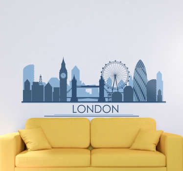 London city wall sticker to decorate the home and business place .Easy to apply and available in different sizes. Self adhesive and durable.