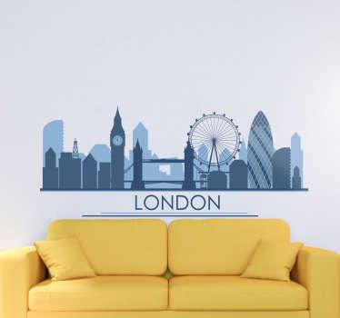 伦敦城市墙贴,用于装饰家庭和商业场所。易于应用且有不同尺寸。自粘和耐用。