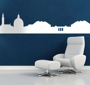 Decals - Silhouette illustration of the Capital of Denmark - Copenhagen. A distinctive feature for any room