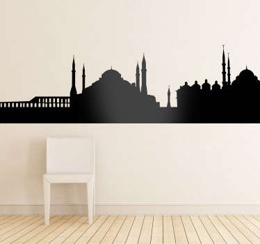Vinil decorativo silhueta Istambul, Turquia