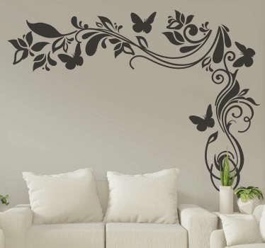 ベッドルームとリビングルームの装飾的な装飾用の花の壁アートステッカー。異なる色とサイズでご利用いただけます。簡単に適用できます。