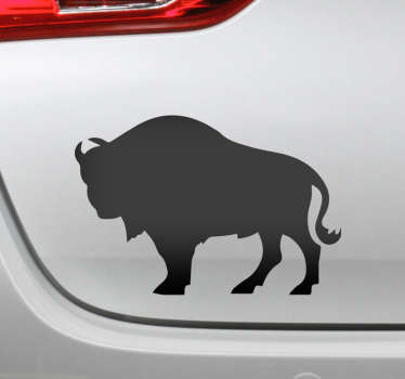 Polish bison silhouette car vinyl sticker to decorate any vehicle of choice. It is available in different colours and size options.