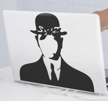 Rene Magritte laptop sticker to decorate your laptop in personality style. It is available in different colours option. Easy to apply and adhesive.