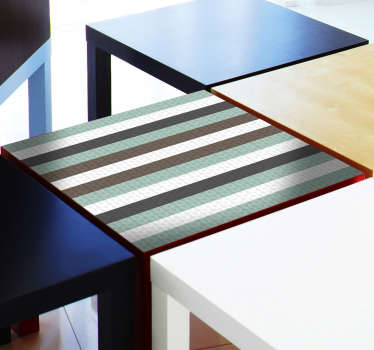 IKEA stripes furniture sticker for tables surfaces and drawers. It is available in any dimension to decorate all furniture type.