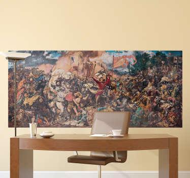 Dekoracyjna naklejka z motywem bitwy pod Grunwaldem, która w niesamowity sposób oddaje piękno tego dzieła sztuki. Dostępne różne rozmiary!