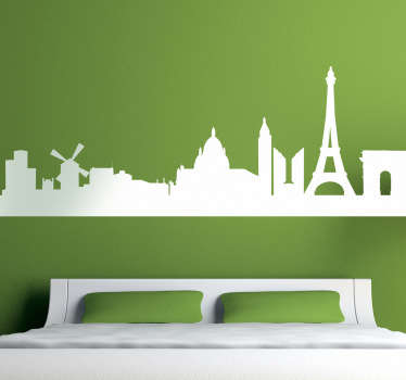 Paris Wall Stickers - featuring the amazing skyline of the French capital Decorate your living room or bedroom with the romantic city.