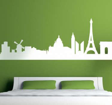 Sticker skyline Parijs