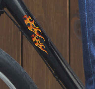 Fire flame for decorate the a bicycle frame. It available in any required size. An easy to apply, durable and self adhesive.