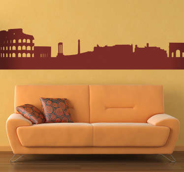 Wall Stickers-Silhouette design of the city of Rome. Ideal for those who love the Italian capital for its history, beauty and its monuments.