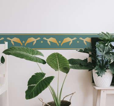 Okrasna stenska nalepka za meje z želvami za ustvarjanje fine ločljivosti vzdolž stenske površine v domu. Je enostaven za uporabo in na voljo v poljubni velikosti.