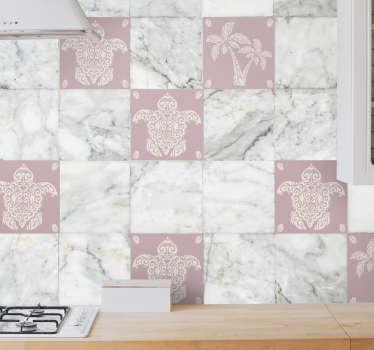 Rendi elegante e bello lo spazio delle piastrelle della cucina e del bagno con il nostro adesivo e adesivi per piastrelle in vinile con stampe di animali e palme originali.