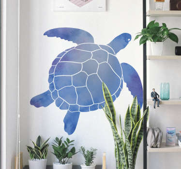 Modern and colorful turtle animal wall sticker for home decoration. It is a big turtle print in beautiful colour. It is easy to apply and adhesive.