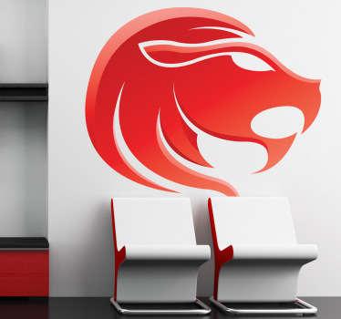 Vinilo decorativo zodiaco leo