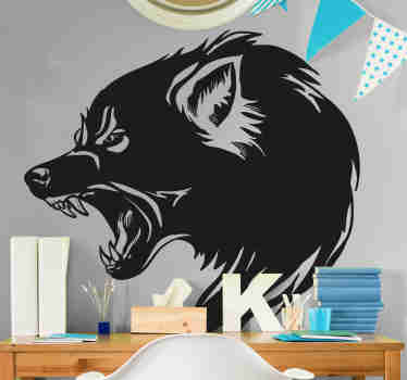 Wolf head wild animal decal to decorate any space you want with elegance. It is available in any size required and it is self adhesive.