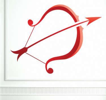 Naklejka znak astrologiczny strzelec