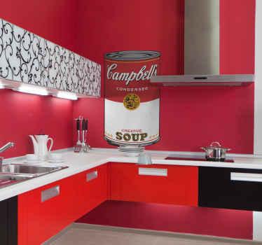 Warhol Campbell Soup Art Sticker