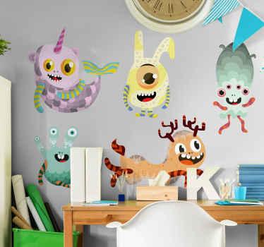 子供のための驚くべきスリリングなスペースを作成するためのさまざまなモンスターの装飾的なモンスタービニールウォールステッカー。必要なサイズで利用できます。