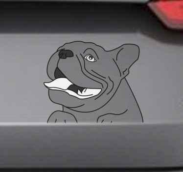 あなたの車のあらゆるスペースを飾るために犬の装飾的な車のビニールのステッカー。必要に応じて簡単に適用できます。