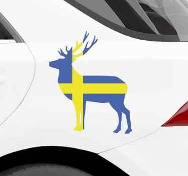 Dekorativt renflagg vinylklistermärke för ett fordon och annan önskad yta. Det är självhäftande och lätt att applicera.