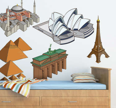 Famous Landmarks Decal Collection