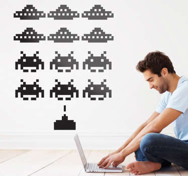 Invaders Game Wall Sticker