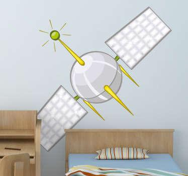 Sticker enfant satellite