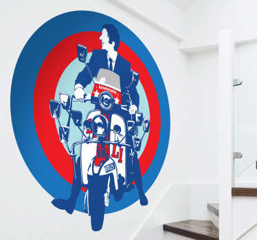 Sticker decorativo Lambretta Mod