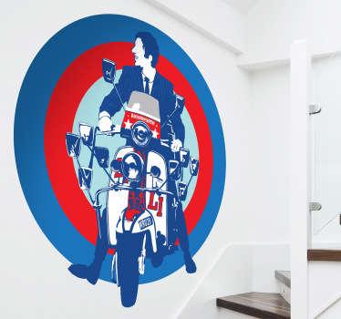 Sticker vehicule moto mod