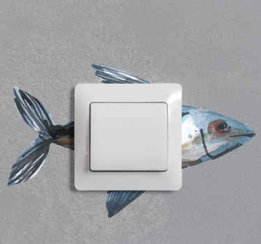 Ahora puede decorar la superficie de su interruptor de luz con nuestro vinilo enchufe con la forma de un pez marino ¡Envío a domicilio!