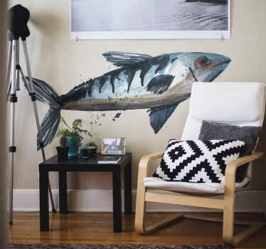 Une magnifique décoration murale pour votre intérieur avec notre design fabriqué avec des matériaux de haute qualité. Un sticker poisson de taille personnalisable.
