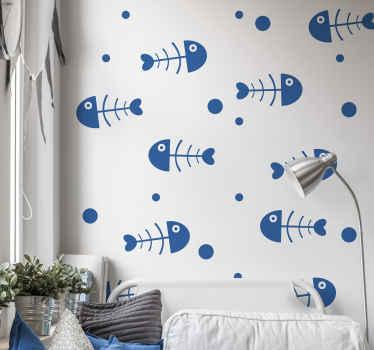 Decora el cuarto de tu hijo con estos vinilos de animales infantiles con espinas de peces para niños. Elige color y tamaño ¡Envío a domicilio!