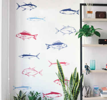 Compre nuestro vinilo animales de peces peces marinos para decorar cualquier estancia de su casa con un diseño original ¡Envío a domicilio!
