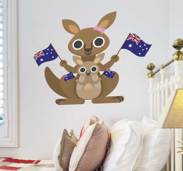 Kids Kangaroo Wall Sticker