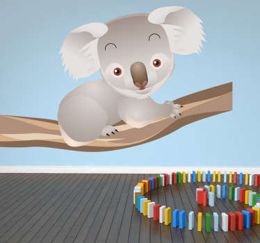Koala na pobočce děti obtisky