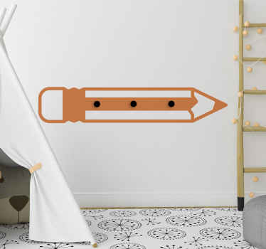 Buy our decorative kids coat hanger wall sticker with the design of pencil. It is easy to apply and made from high quality vinyl.