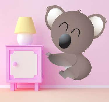 Vinilo infantil koala sonriendo