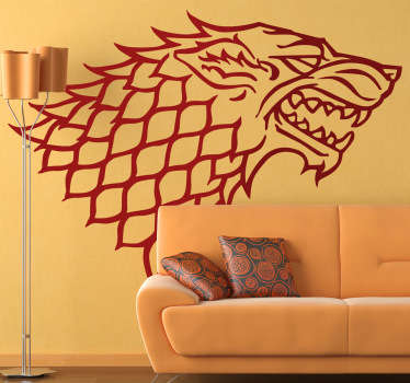 Room Stickers - From the hit HBO series - Game of Thrones, the symbol of the Stark family.Decals inspired by classic films and hit TV series.