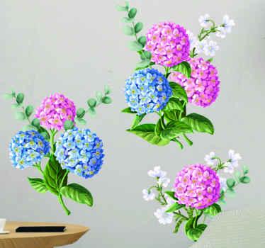 Um vinil autocolante decorativo realista da arte da parede da flor da flor ideal para uma decoração da sala de estar. é fácil de aplicar e fabricado com vinil de alta qualidade.