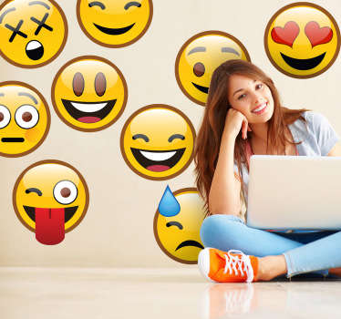 Adesivos de parede emoticons whatsapp