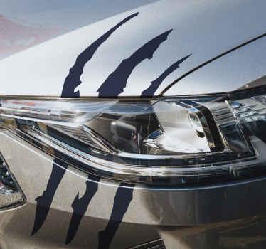 特別な視覚効果の幾何学的なラインのデザインが施された、装飾的で簡単に適用できる車のビニールデカールを購入してください。さまざまなカラーオプションでカスタマイズできます。