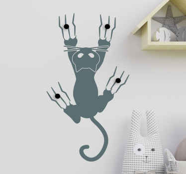 Decorative coat hook wall sticker to keep your coats and jackets looking organised . It is easy to apply and available in different colours.