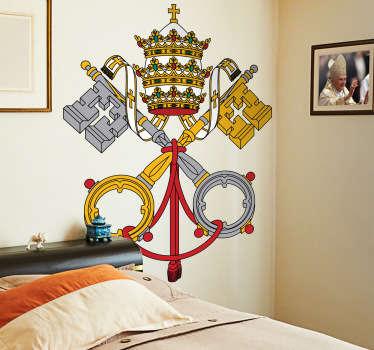 Naklejka dekoracyjna herb Watykanu