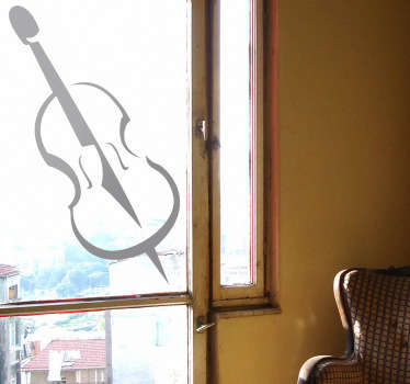 A brilliant monochrome wall sticker illustrating a music instrument!